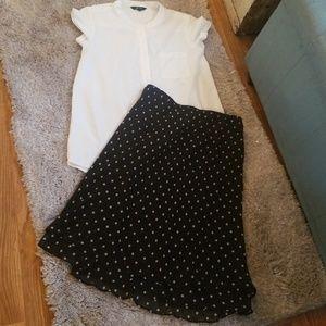 Polka Dot fashion skirt large